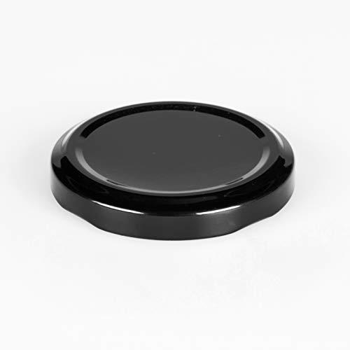 Flaschenbauer 20 St. Ersatzdeckel Twist-Off-Deckel 58 mm schwarz für Glasflaschen, Milchflaschen und Einmachgläser