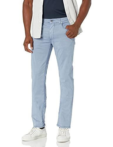 Bugatchi Men's Five Pocket Cotton Stretch Pants 34' Inseam, Cobalt