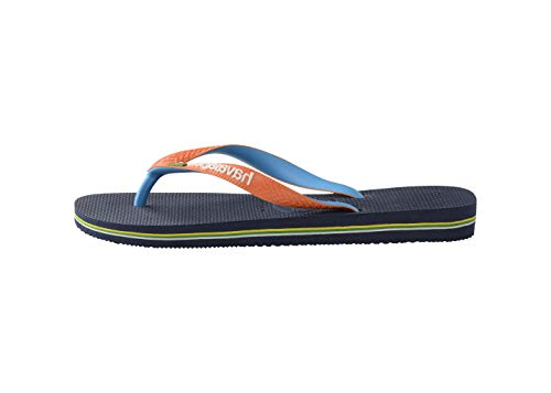Havaianas Brasil Mix, Chanclas Unisex Adulto, Azul (Navy/Neon Orange), 37/38 EU