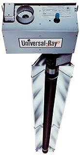 Universal Ray RHT-150-60-P, Two Stage, Propane Gas, 150,000 BTU, 60 foot Emitter Tube, Highly Polished Reflectors, Titanium Stabilized Combustion Tube, Black Coated Aluminized Steel Emitter Tubes,