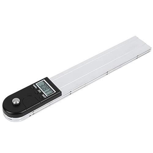 Transportador digital 2 en 1 de alta calidad, unidad de medida Conversión 30,5 cm Interruptor de alimentación Buscador de ángulo Transportador Aleación de aluminio para medición de varios ángulos