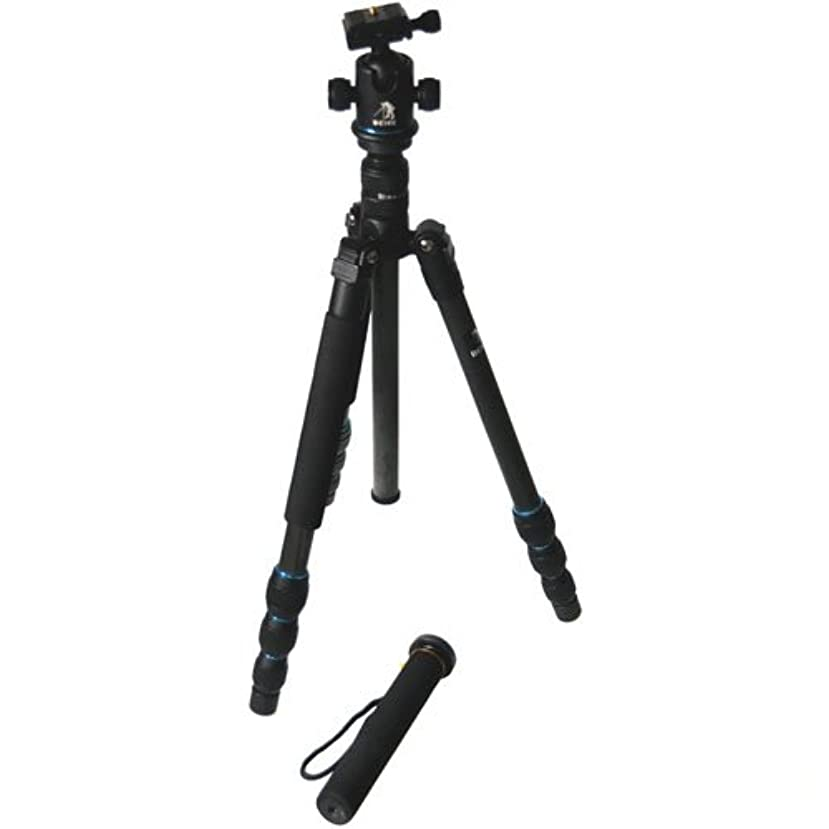 CowboyStudio BK-476 Trans-Functional Travel Angle Carbon Fiber Tripod with Monopod for DSLR Camera Nikon Canon Sony Olympus