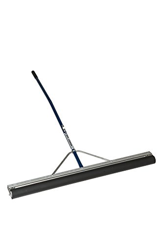Midwest Rake - 70948 S550 Professional Series Head Roller Squeegee with Cushion Gripped 60' Ergonomic Powder-Coated Aluminum Handle, with Replacement Roller (Various Sizes: 24' to 48')