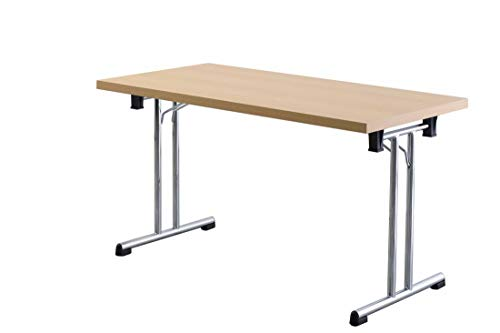 Büro-Klapptisch DR-Büro - Maße 138 x 69 cm - 2 Farbvarianten - Höhe einstellbar 73,5 cm - Gestell Silber - leicht zusammenklappbar -...