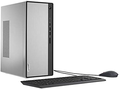 2021 Newest Lenovo IdeaCentre 5 Tower Desktop Computer, AMD Ryzen 5 4600G 6-Core Processor, 16GB DDR4 RAM, 512GB PCIe NVMe SSD, HDMI, VGA, DVD-RW, Wi-Fi, Bluetooth, Windows 10 Home, KKE Mousepad