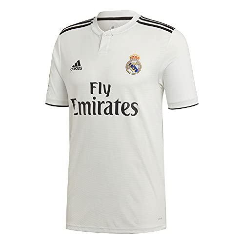 adidas 18/19 Real Madrid Home with Lfp Badge Camiseta, Hombre, Blanco (Core...