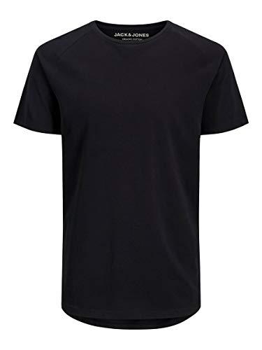 JACK & JONES Male T-Shirt Bio-Baumwoll LBlack