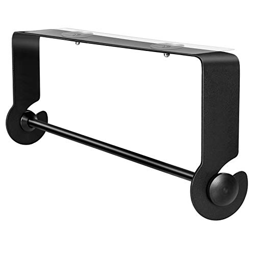 Nieifi Paper Towel Holder Under Cabinet Wall Mounted Rustroof for Kitchen Adhesive No Drilling Black