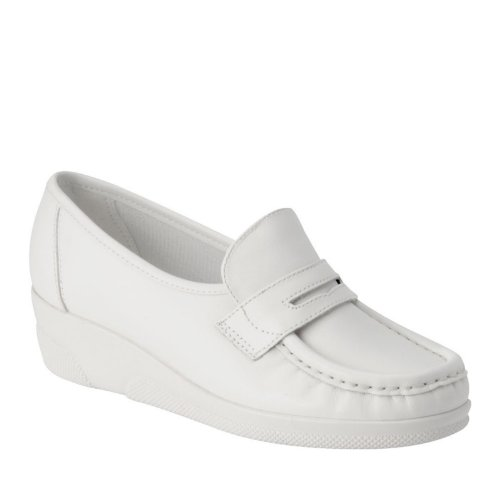 Nurse Mates Women's Pennie Slip on Nursing Shoe White