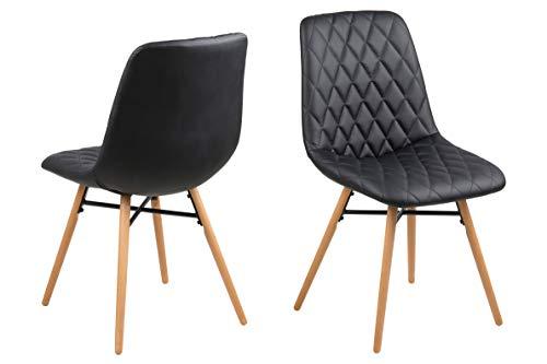 AC Design Furniture Loui Chaise en polyuréthane Noir 46 x 57 x 85 cm