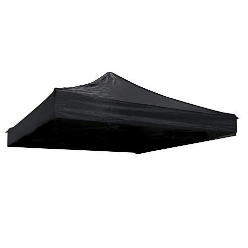 Toit de toile pour tente pliante noire 250x250cm - Cablematic