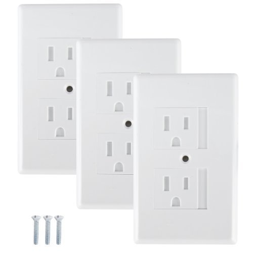 Mommy's Helper Safe Plate Electrical Outlet Covers Standard, White, 3 Pack