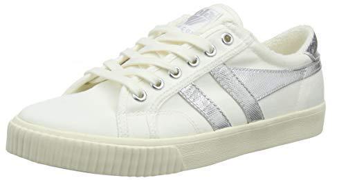 Gola Damen Tennis Mark Cox Sneaker, Elfenbein (Off White/Silver WJ), 41 EU