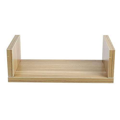estanterias madera color nogal
