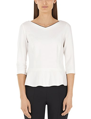 Marc Cain Additions HA 48.02 J51 T-Shirt, Bianco (White And Black 190), 46(Taglia del Produttore: N4 / 40) Donna