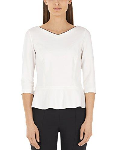 Marc Cain Additions Damen HA 48.02 J51 T-Shirt, Weiß (White and Black 190), (Herstellergröße: N4 / 40)