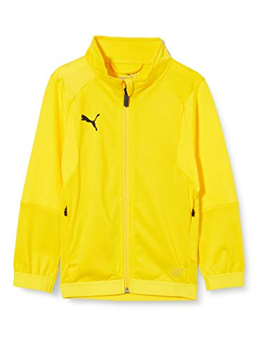 Puma Liga Training Jacket Jr, Giacca Tuta Unisex-Bambini, Giallo (Cyber Yellow Black), 164