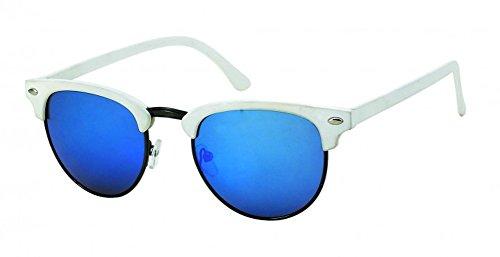 Chic-Net des Lunettes de Soleil Ronde millésime Sun Glasses Verres de Style Ballot 400UV Haute crête Bleue Cat Eye
