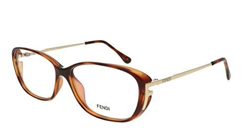 FENDI 969 238 RX gafas, gafas, gafas, marcos y funda 53 mm