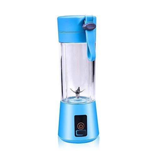 WMJ 6 Blade Blender, Portable Juicer, Food Processor, Mini Manual Fruit and Vegetable Juice Cup, Electric Blender, Household Kitchen Spice Grinder, Student Dormitory Portable Cup Blue