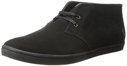 Fred Perry Men's Byron MID Suede Sneaker, Black, 6 D UK (7 US)