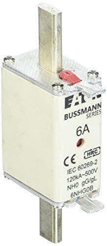Eaton 6NHG0B Sicherungseinsatz, Niederspannung, 6 A, AC 500 V, NH0, Gl/Gg, IEC, Kombikennmelder, Spannungsführende Grifflasche