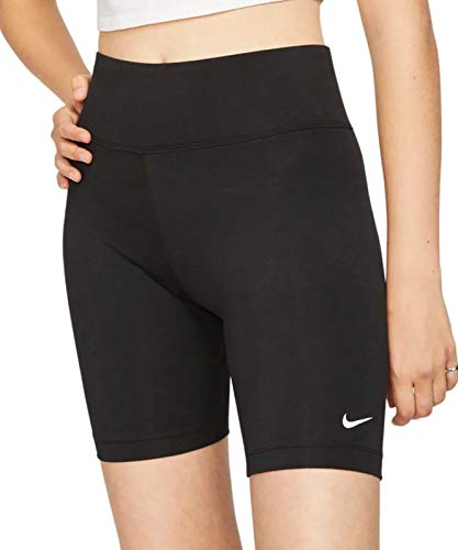 Nike Damen W NSW LEGASEE Bike Short Sport, Black/Black/(White), L