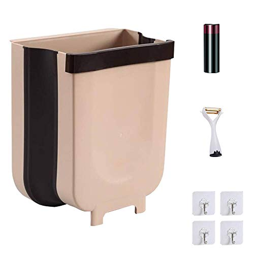 foldable trash cans Hanging Trash Can for Kitchen,FreshLife Collapsible Mini Garbage,Foldable Trash Bin Portable Home & Outdoor Garbage Can
