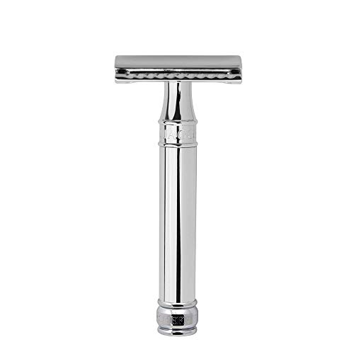 Edwin Jagger Double Edge Safety Razor, Chrome, Regular...