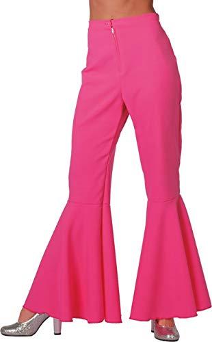 Damen Kostüm Hippie Hose Schlaghose pink Karneval Fasching Gr.48