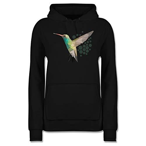 Vögel - Colibri - M - Schwarz - Pulli Damen - JH001F - Damen Hoodie und Kapuzenpullover für Frauen