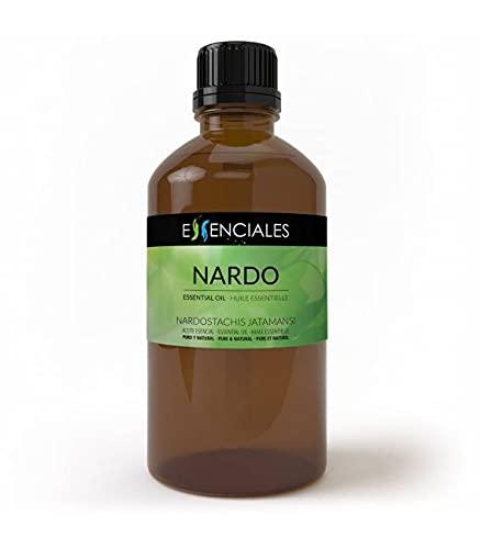 Essenciales - Aceite Esencial de Nardo, 100% Puro, 100 ml   Aceite esencial Nardostachis Jatamansi
