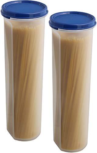 SIGNORA WARE luftdichte Aufbewahrungsboxen mit Deckel für Spaghetti und andere Lebensmittel aus BPA-Freiem Plastik - 2 Stück - Hochwertige transparente Küchen Vorratsdosen - to-Go Snackbox