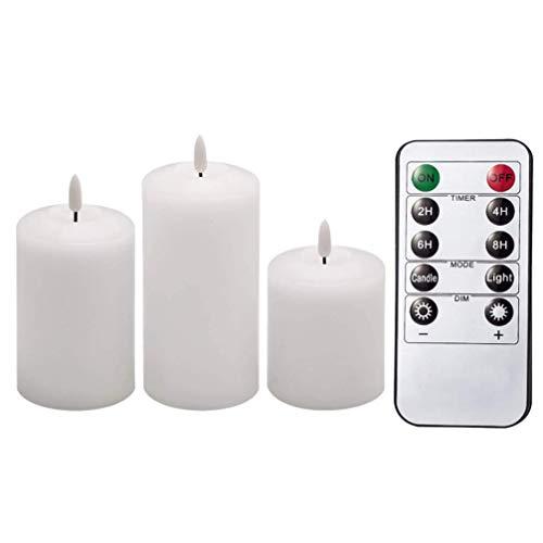 XXLYY 1 Juego de Velas sin Llama, Luces LED eléctricas para té con Control Remoto para Celebraciones de Temporada y Festivales, decoración de Mesa de Boda, Centro de Mesa