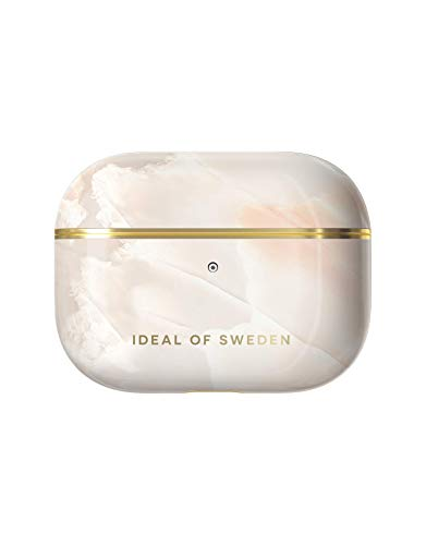 iDeal of Sweden AirPods Pro Cases, AirPods Pro Protective Case Compatible with AirPods Pro, Qi Charger Compatible, LED on the Front Visible (Rose Pearl Marble)