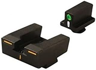 Meprolight,  R4E Optimized Duty Sight Set Full Size, Glock Only, Orange Front and Green Rear, Black
