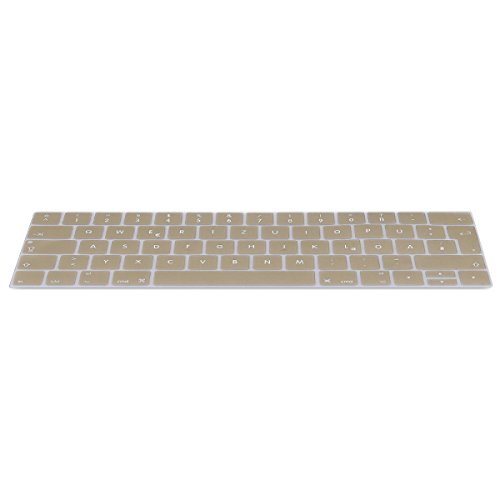 kwmobile Keyboard Cover Compatible with Apple MacBook Pro 13' / 15' (from 2016) - German QWERTZ Layout Keyboard Cover Silicone Skin