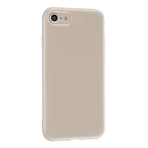 CrazyLemon Hülle für iPhone 6 Plus iPhone 6S Plus, Niedlich Volltonfarbe Gelee Design Weich Silikon Slim Dünn Handyhülle Stoßfest Schutzhülle - Khaki