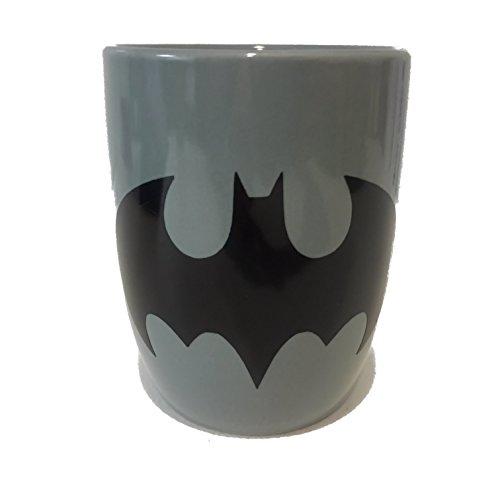 1- 12oz Grey Batman Logo Coffee Mug