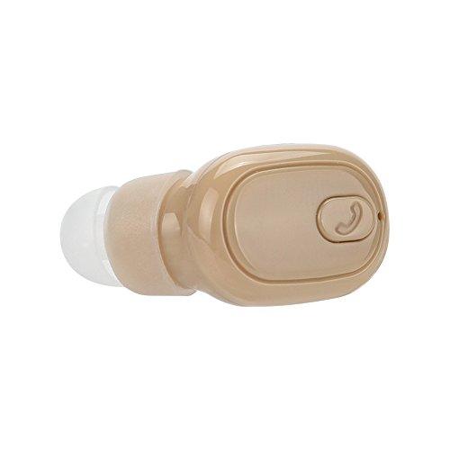YWLINK Mini Auriculares InaláMbricos Bluetooth 4.1 Auriculares EstéReo para Auriculares En La Oreja MicróFono ReduccióN De Ruido Puede Ser Utilizado para Correr Auriculares Ciclismo Yoga(Caqui)