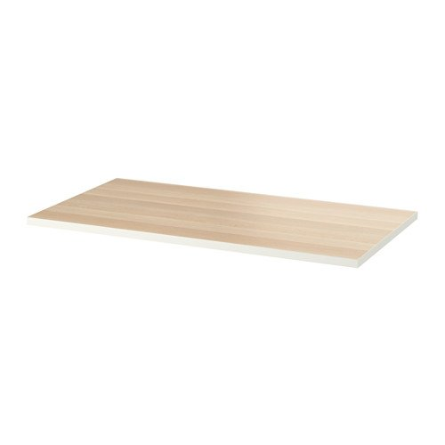 Unbekannt IKEA Linnmon - Tablero de Mesa (Efecto Roble, Lacado, 150 x 75 cm), Color Blanco