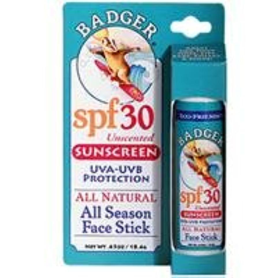 滅多習慣キャスト[海外直送品] バジャー(Badger) フェイススティック サンスクリーン SPF30 18.4g (無香料)