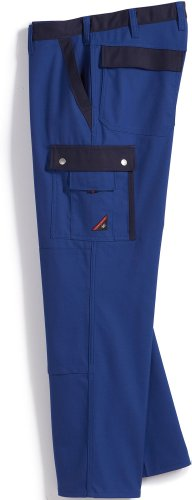 BP 1980-570-13-56s Arbeitshose für Männer, Schlanke Silhouette mit elastischem Rückenteil, 250,00 g/m² Stoffmischung mit Stretch, Königsblau ,56s