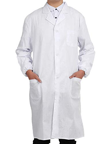 Pinkpum Lab Coat Professional Uniforms, Unisex White (XL)