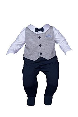 Six4kids Baby Taufstrampler Taufanzug Strampler Overall (68-6M)