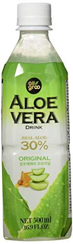 ALLGROO Aloe Vera Drink (vegetarisch, glutenfrei, Einwegpfand) Pur, 12er Pack (12 x 500 ml)