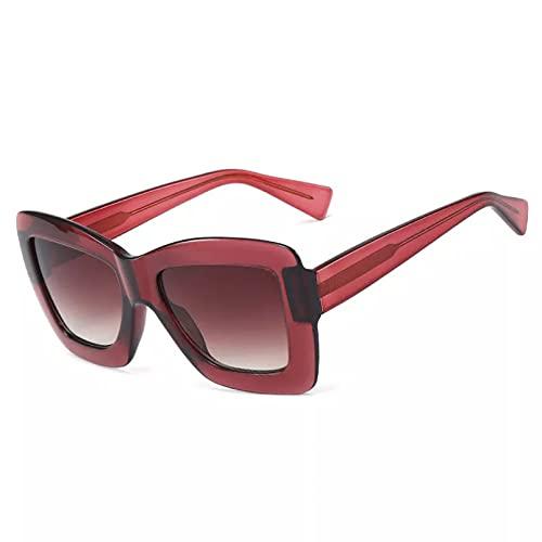 BAJIE Gafas De Sol, Gafas De Sol cuadradas De Montura Gruesa para Mujer, Gafas De Sol Rosas para Conducir, Gafas De Sol Femeninas para Hombres y Mujeres