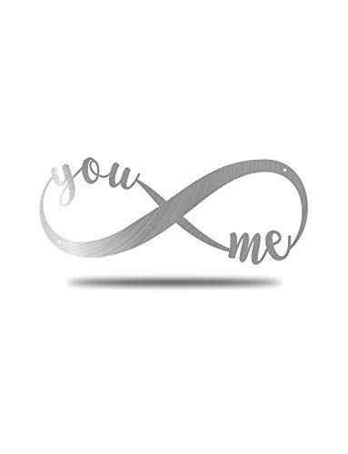 You and Me Infinity Symbol - Steel Roots Decor - Perfect Anniversary, Wedding and Couples Gift - Metal Wall Art Laser Cut 18 Inch - Wall Decor for Living Room or Bedroom - Indoor and Outdoor Use