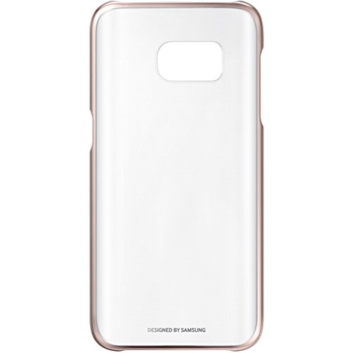 Samsung Clear Cover - Funda para Samsung Galaxy S7 Edge, color rosa