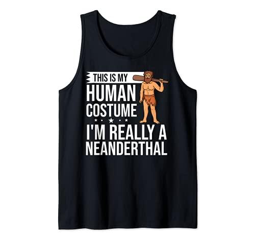 Neanderthal Caveman Regalo Dna Mujer Calavera Camiseta sin Mangas